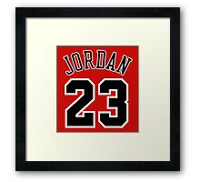 Jordan 23 Jersey Framed Print