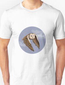 Owl at dusk // Barn Owl // Brown Owl // Cute Owl  Unisex T-Shirt