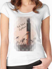 Oak Island Lighthouse Women's Fitted Scoop T-Shirt