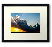 Partly Cloudy with a Chance of Awesome Framed Print
