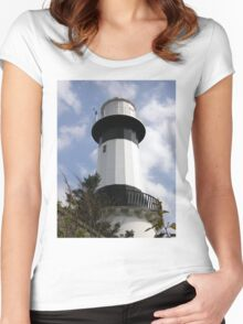 Shrove Light House County Donegal Ireland Women's Fitted Scoop T-Shirt