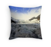 Glacier Sunrise Throw Pillow