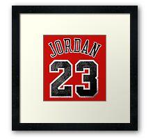 Jordan 23 Jersey Worn Framed Print