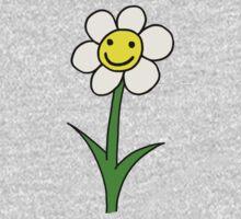 Happy Smiling Cartoon Flower sticker & t-shirt Kids Tee