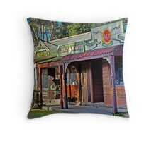 Shops of yesteryear Throw Pillow