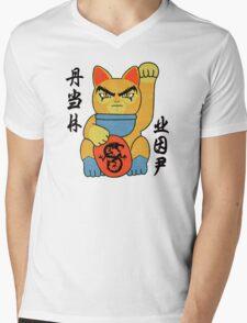 Lucky ThunderCat Mens V-Neck T-Shirt