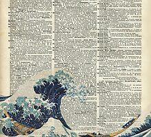 Dictionary Art - The Great Wave off Kanagawa, Sea, Waves by DictionaryArt