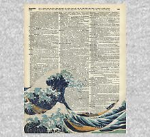 Dictionary Art - The Great Wave off Kanagawa, Sea, Waves Hoodie