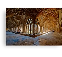 The Cloisters - Canterbury Cathedral. Canvas Print