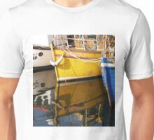 Yellow Boat Reflection Unisex T-Shirt