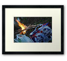 PBR Fire Framed Print