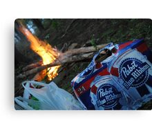 PBR Fire Canvas Print