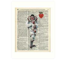 Joker from Playing Cards,Clown,Circus Actor Art Print