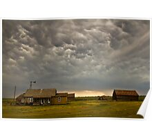 Abandoned Cottage with overhanging Mammatus Poster