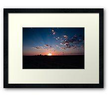 Sunset over Kansas Framed Print