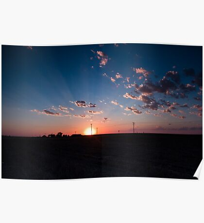 Sunset over Kansas Poster