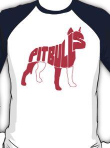 Pitbull Typography T-Shirt