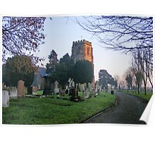 St. Lawrence Church, Stoak, Chester Poster