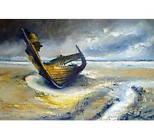 Wreck at Fleetwood Marshes Photographic Print