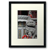 Chinese Lion Framed Print