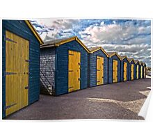 Beach huts at Minnis Poster
