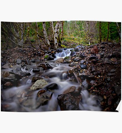 Quartzville Creek Cascading Water Poster