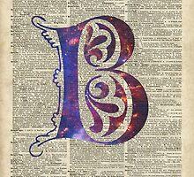 Letter B Monogram by DictionaryArt