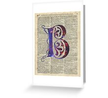 Letter B Monogram Greeting Card