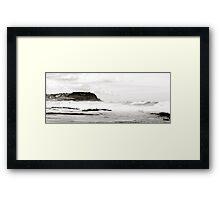 White Surf At Bar Beach Framed Print