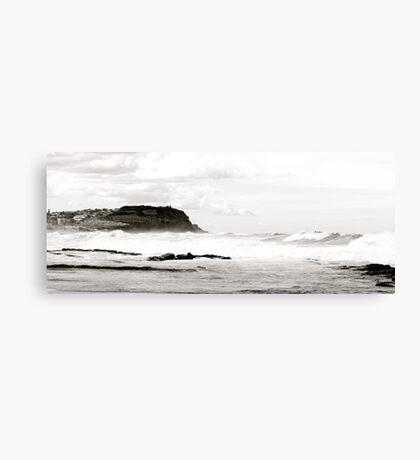 White Surf At Bar Beach Canvas Print