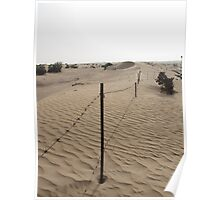 Dubai - Fenced Dune Poster