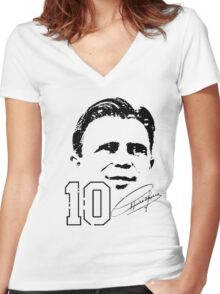 Ferenc Puskás Women's Fitted V-Neck T-Shirt
