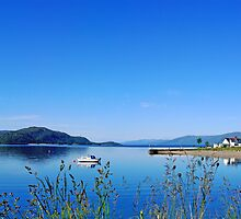 Calm Blue Waters - Onich Scotland by Pollyhogg