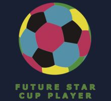 Future Star Cup Soccer Player T-Shirts for Kids Kids Tee