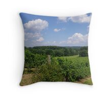 Summer day at the vineyard Throw Pillow