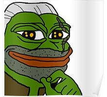 Pepe Frog Witcher 3 Geralt Poster