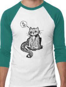 Ink Cat Men's Baseball ¾ T-Shirt