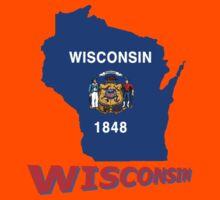 Wisconsin State Flag Kids Tee