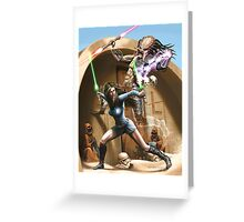 Vulcan Jedi vs Predator Sith Greeting Card