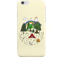 Camping Diorama Stickers iPhone Case/Skin
