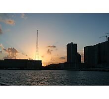 Sunset in Miami Photographic Print