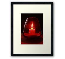 Flaming Red Framed Print