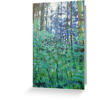 Veil of Green Greeting Card