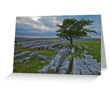 Sunset, Winskill Stones. Greeting Card