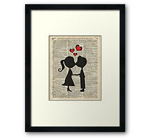 """I love you"" Cute Couple - Dictionary Art.Perfect Gift! Framed Print"