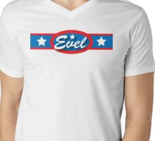 Evel Knievel - Horizontal Strip V.2 Mens V-Neck T-Shirt