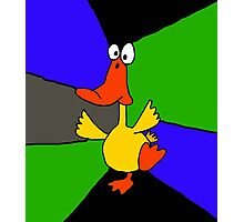 Funky Colorful Dancing Duck Abstract Photographic Print