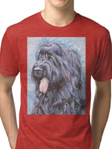 Briard Fine Art Painting Tri-blend T-Shirt