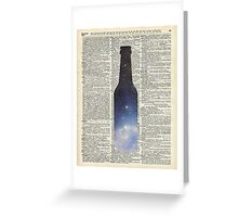Dictionary Art - Magic Beer,Carina Nebula,Space Art Greeting Card