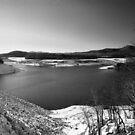 Carnifax ferry overlook   b/w by fotoflossy